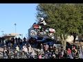 INSANE Harley Davidson JUMP Ramp To Ramp On HD Road Glide Fully Dressed Bagger Cole Freeman 2017