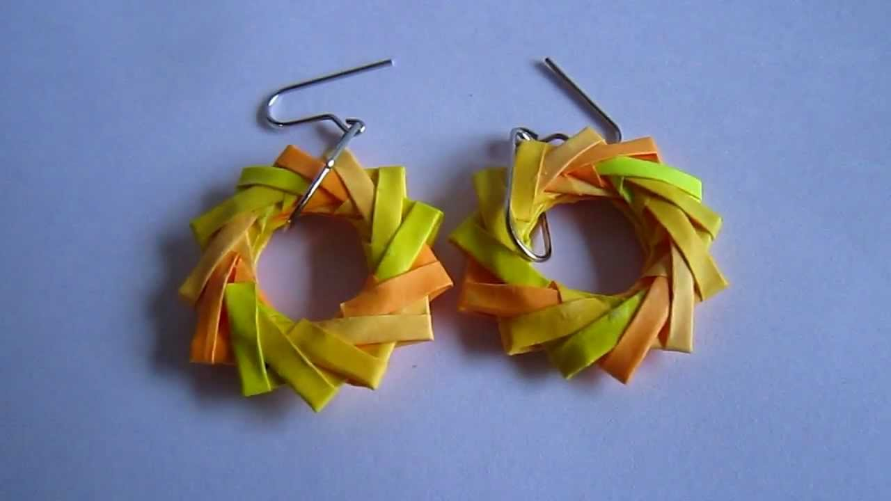 Conosciuto Paper Jewelry - Handmade Origami Wreath Earrings - YouTube RU27