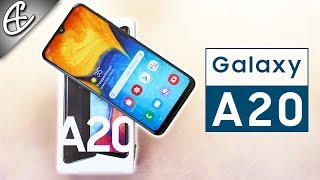 "Samsung Galaxy A20 (6.4"" Infinity V @ 12.5K w/ 4000mAh) - Unboxing & Hands on Review !!!"