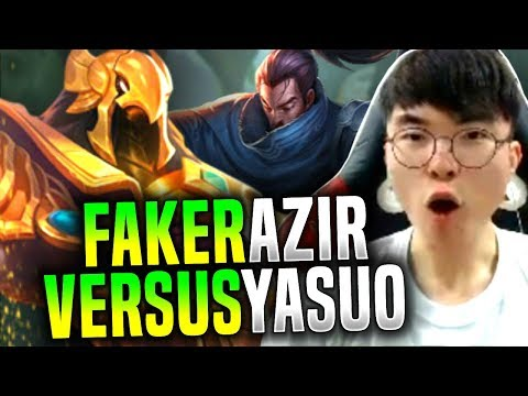 Faker is Ready to Beat Yasuo with Azir! - SKT T1 Faker Picks Azir Mid! | SKT T1 Replays