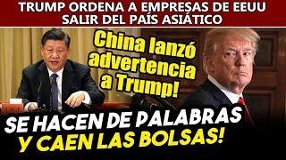 Viernes negro! China y Trump casi se mientan la madre, suben tarifas y caen las bolsas