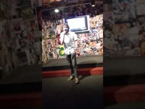 Me singing Help!, karaoke, Tropicana, Atlantic City, NJ, Honeymoon 2016