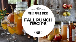 FALL PUNCH RECIPE | With Spiced Whisky & Sparkling Apple Wine