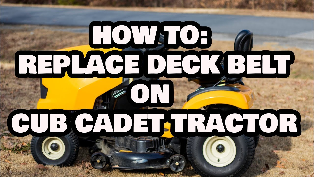 medium resolution of how to change deck belt on cub cadet lawn tractor