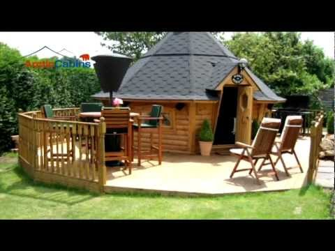 Arctic cabins spring 2012 bbq cabins youtube for Garden huts for sale