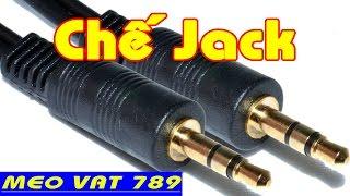 Chế Jack kết nối điện thoại sang loa và âm ly -  Simple Life Hacks