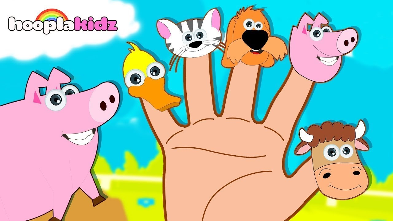 Learn Farm Animals with Finger Family Song   Animal Sounds Song  Nursery Rhymes by HooplaKidz