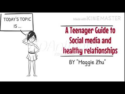 A Teenager's Guideline to Social Media and Healthy Relationship