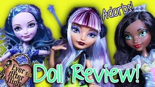 Ever After High | Farrah GoodFairy, Melody Piper, & Justine Dancer | Doll Reviews
