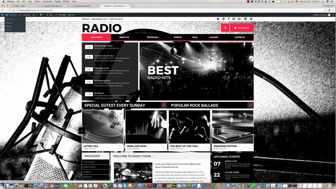 How to install BW-Radio WordPress theme ? - YouTube