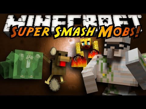 Minecraft Mini-Game : SUPER SMASH MOBS!
