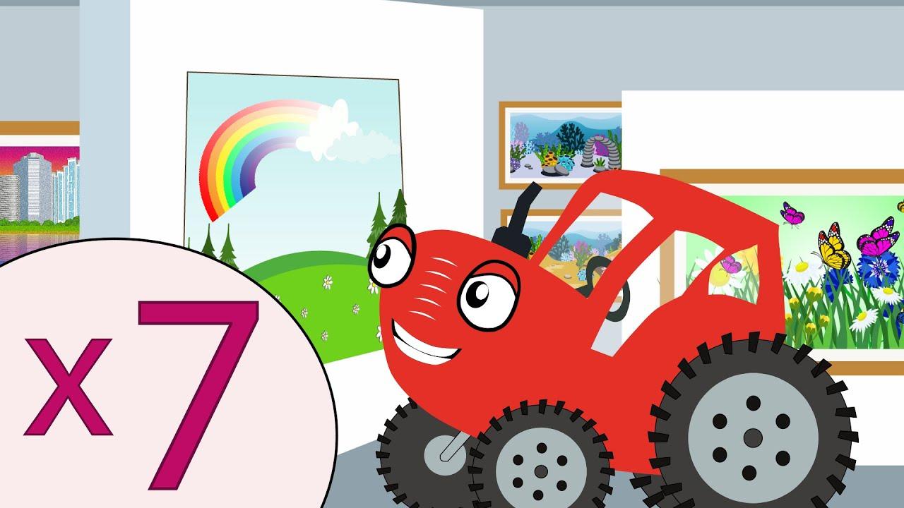 Таблица умножения на 7 - Тыр Тыр Трактор - Песенки для детей