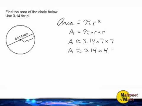 Calculate the area of a circle when given diameter youtube calculate the area of a circle when given diameter ccuart Image collections