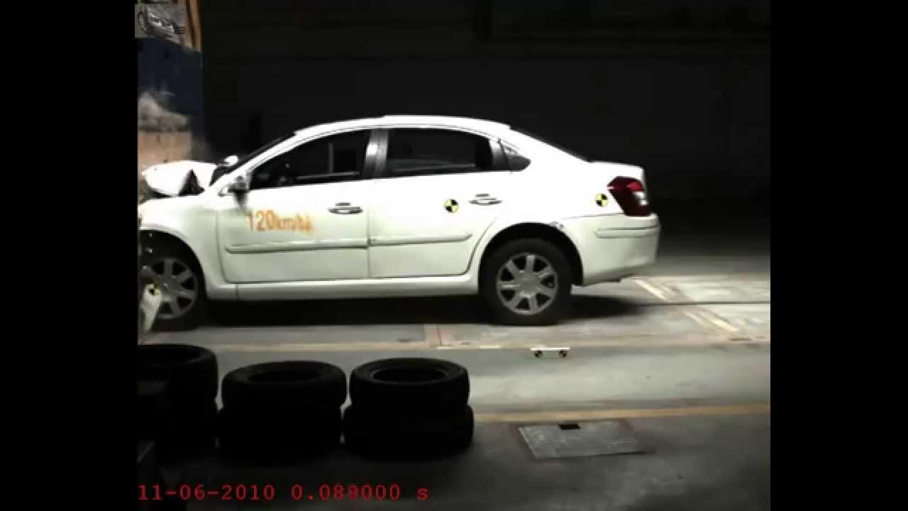 Crash test volkswagen Passat#1 - YouTube