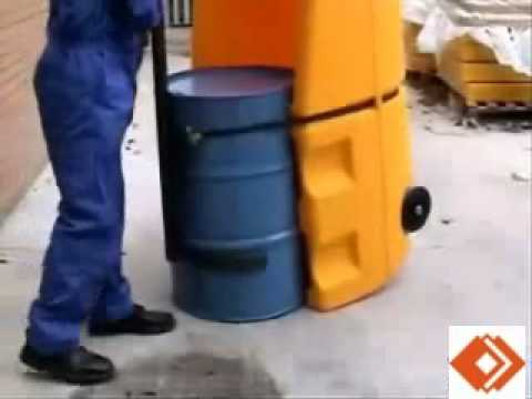 Bunded Drum Containment Trolley in Use