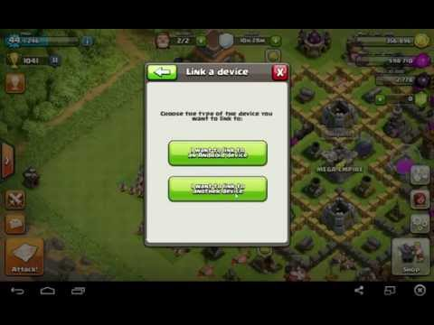 Clash Of Clans How To Link A Device