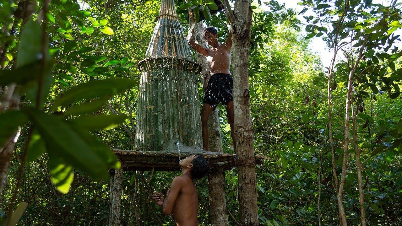 Bamboo Water Tank Above Ground & Save Rain Storage