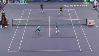 Showndown of Champions KL : Federer/Borg vs Blake/McEnroe (Highlights)