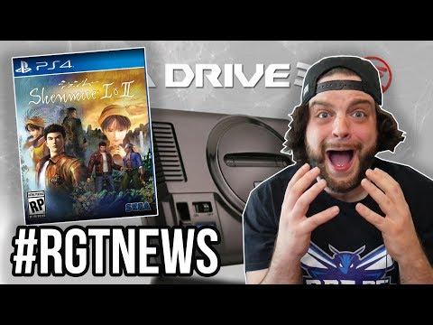 SHENMUE 1 AND 2 HD! MEGA DRIVE MINI! Sega FES 2018 Reaction! | #RGTNEWS Quickie