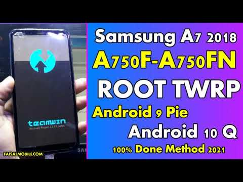 How To Root Samsung A7 SM-A750F/SM-A750FN Android 10 Q TWRP Root 100% Do...