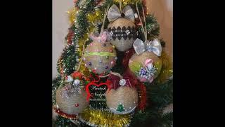Новогодние игрушки на ёлку своими руками/ Игрушки с бечевки своими руками/ Обзор игрушек на ёлку
