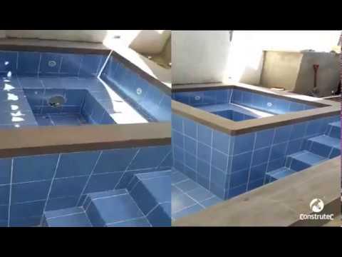 Construccin Piscina con jacuzzi  YouTube