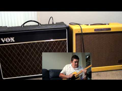 Can you hook up two combo amps together