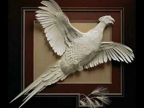Paper Sculpture Art by Calvin Nicholls - YouTube