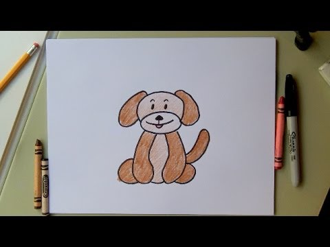 how to draw a dog drawing a cartoon dog fun for kids or adults - Fun Drawings For Kids