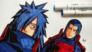 Drawing Hashirama and Madara - Naruto Shippuden