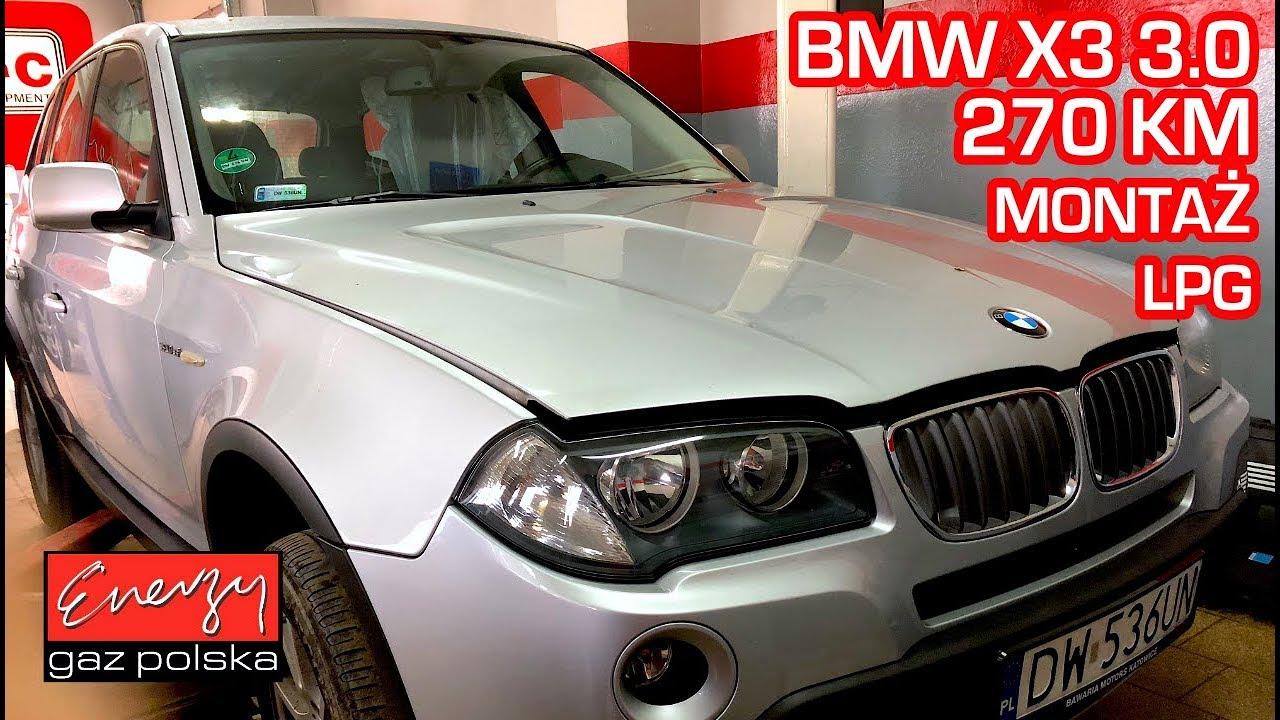 Montaż LPG BMW X3 z 3.0 272KM 2008r w Energy Gaz Polska na gaz BRC SQ P&D