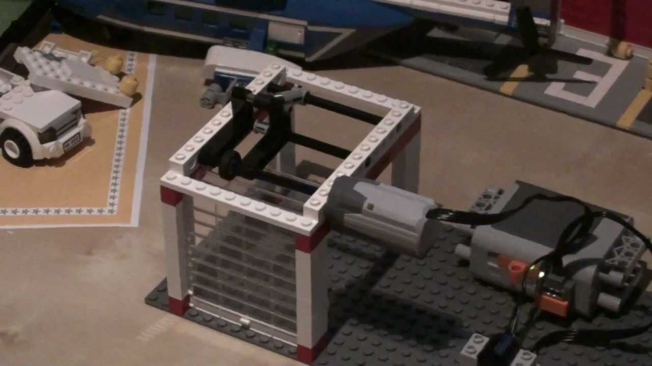 How To Make Lego Automatic Garage Shutter Doors With Electric Power