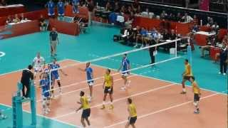 Volleyball: Brazil Vs Italy - Fantastic Rally From The Olmpics