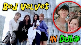 RED VELVET moments with SMTOWN family in Dubai's Burj Khalifa and The Dubai Fountain | 레드벨벳