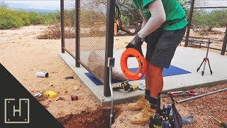 DIY Concrete Deck with Steel Pergola - Wiring The Pergola (part 5)