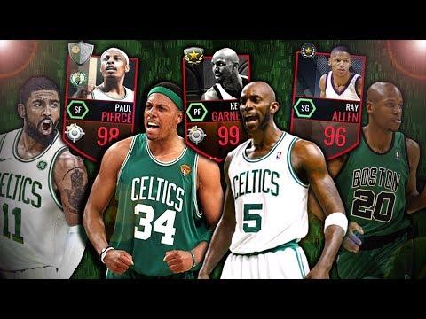 ALL TIME CELTICS SQUAD BUILDER IN NBA LIVE MOBILE!!
