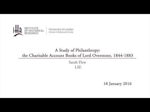 A Study of Philanthropy: the Charitable Account Books of Lord Overstone, 1844-1883