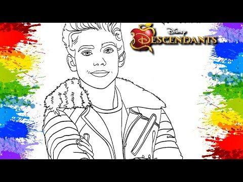 Colorindo Desenho Filme Descendentes 2 Disney Channel Carlos The