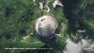 Porto Rico, collassa il radiotelescopio di Arecibo