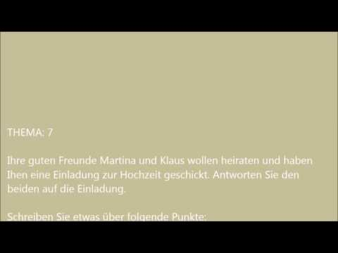 Deutsche Brief A1 A2 B1 Prüfung 2 Deutsch Lernen Download Or Watch