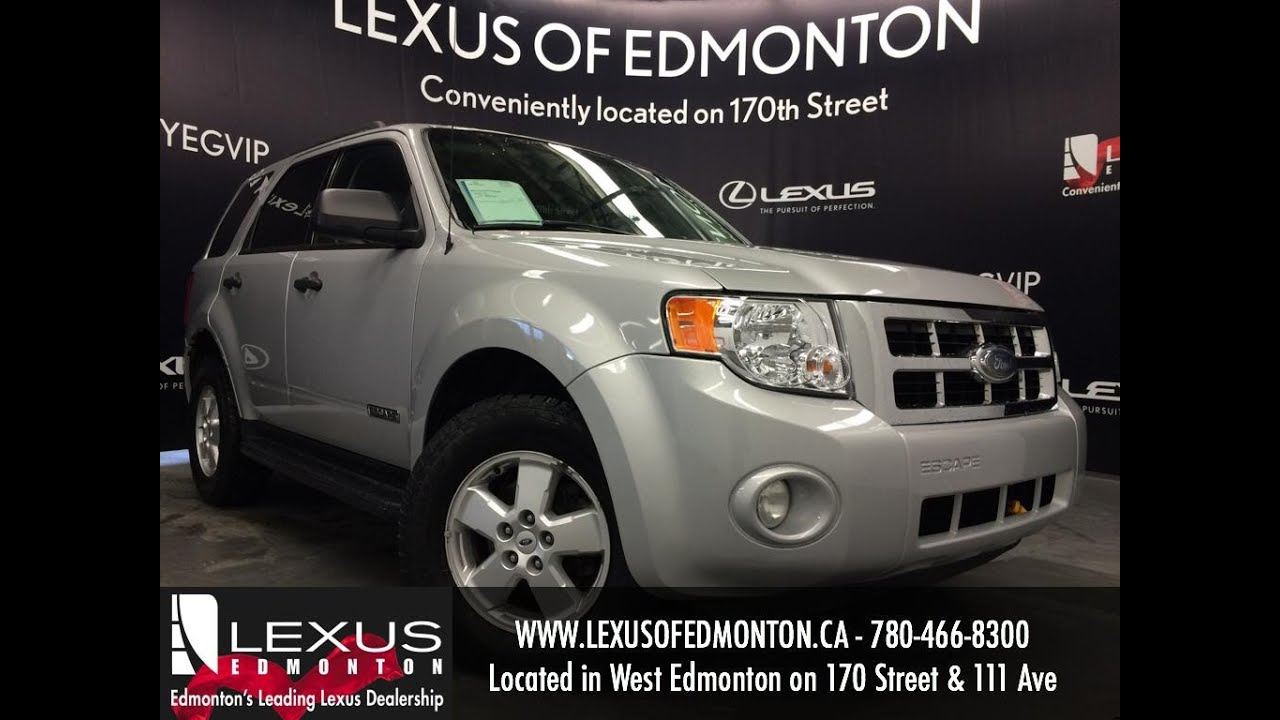 used silver 2008 ford escape fwd v6 xlt review stony plain alberta youtube. Black Bedroom Furniture Sets. Home Design Ideas