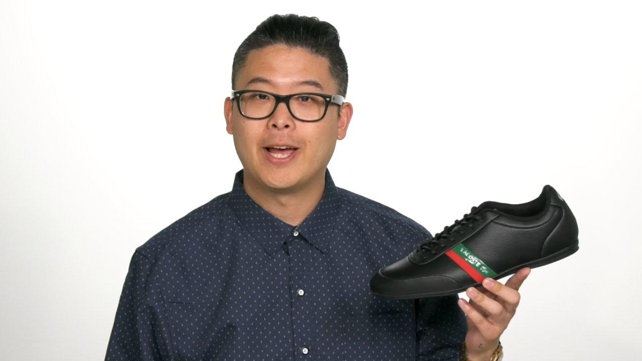 Lacoste Men/'s CHAYMON 318 6 U Leather Sneakers Shoes