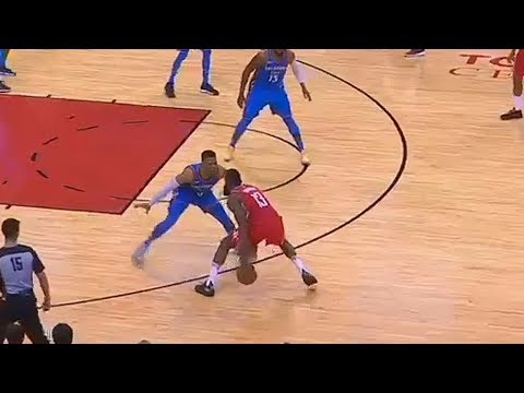 James Harden Shows Russell Westbrook He Can't Be Guarded!