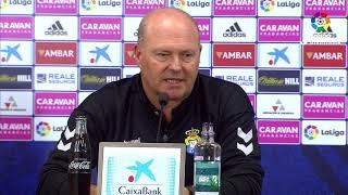 Rueda de prensa de Pepe Mel tras el Real Zaragoza vs UD Las Palmas (3-0)