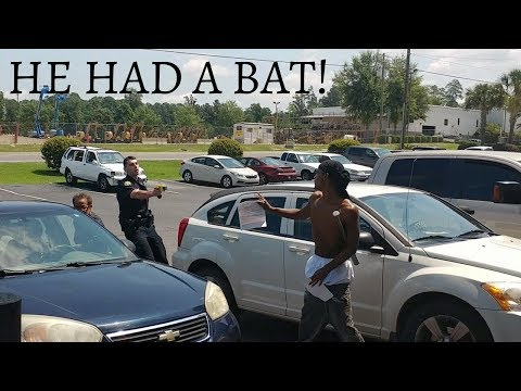 CRAZY MAN GETS TAZED BY POLICE MULTIPLE TIMES!
