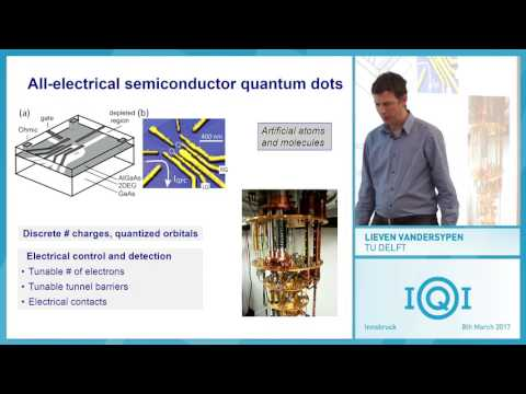 "Lieven Vandersypen: Quantum simulation and computation with quantum dots - ""spins-inside"""