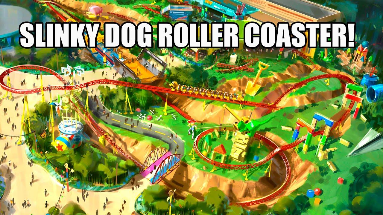 Toy Story Slinky Dog Roller Coaster