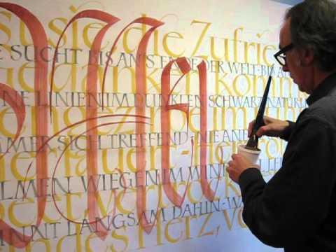 Wolfgang Loewe - Kalligraphie 01