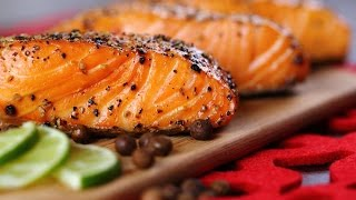 Grilled Wild King Salmon with Alder wood smoke