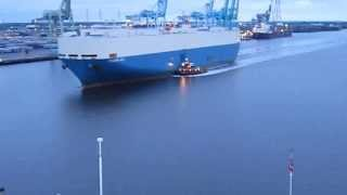 Carnival Fascination Cruise Jan 2 2014 St Johns river Cargo ship horn battle